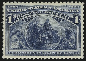 Sale Number 1011, Lot Number 578, 1893 Columbian Issue (Scott 230-245)1c Columbian (230), 1c Columbian (230)