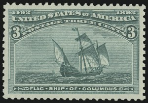 Sale Number 1011, Lot Number 581, 1893 Columbian Issue (Scott 230-245)3c Columbian (232), 3c Columbian (232)