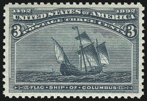Sale Number 1011, Lot Number 582, 1893 Columbian Issue (Scott 230-245)3c Columbian (232), 3c Columbian (232)