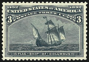 Sale Number 1011, Lot Number 584, 1893 Columbian Issue (Scott 230-245)3c Columbian (232), 3c Columbian (232)