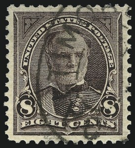 Sale Number 1011, Lot Number 626, 1895 Watermarked Bureau Issue (Scott 267c-283)8c Violet Brown (272), 8c Violet Brown (272)