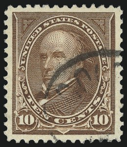 Sale Number 1011, Lot Number 642, 1895 Watermarked Bureau Issue (Scott 267c-283)10c Brown, Ty. I (282C), 10c Brown, Ty. I (282C)