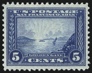 Sale Number 1011, Lot Number 719A, 1909 Commemoratives, 1913-15 Panama-Pacific Issues (Scott 368-404)5c Panama-Pacific (399), 5c Panama-Pacific (399)