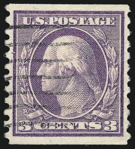 Sale Number 1011, Lot Number 746, 1912-15 Washington-Franklin Issues (Scott 407-460)3c Violet, Coil (456), 3c Violet, Coil (456)