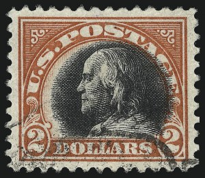 Sale Number 1011, Lot Number 780, 1917-20 Washington-Franklin Issues (Scott 493-547)$2.00 Orange Red & Black (523), $2.00 Orange Red & Black (523)