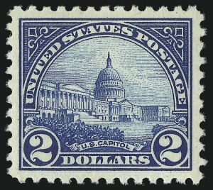 Sale Number 1011, Lot Number 793, 1922 and Later Issues (Scott 571 onwards)$2.00 Deep Blue (572), $2.00 Deep Blue (572)