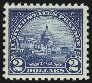 Sale Number 1011, Lot Number 794, 1922 and Later Issues (Scott 571 onwards)$2.00 Deep Blue (572), $2.00 Deep Blue (572)