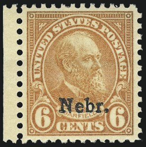 Sale Number 1011, Lot Number 810, 1922 and Later Issues (Scott 571 onwards)6c Nebr. Ovpt. (675), 6c Nebr. Ovpt. (675)