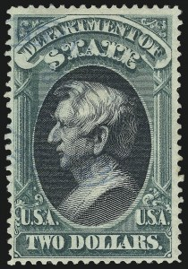 Sale Number 1011, Lot Number 891, Officials thru Newspapers (Scott O6-PR124)$2.00 State (O68), $2.00 State (O68)