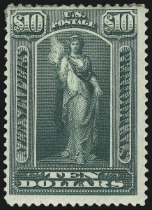 Sale Number 1011, Lot Number 899, Officials thru Newspapers (Scott O6-PR124)$10.00 Green, 1895 Issue (PR110), $10.00 Green, 1895 Issue (PR110)