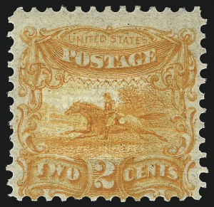 Sale Number 1013, Lot Number 107, 1869 Pictorial Issue Essays and Proofs2c Orange, Small Numeral, Plate Essay on Stamp Paper, Perforated 12, Double Grill (113-E3f), 2c Orange, Small Numeral, Plate Essay on Stamp Paper, Perforated 12, Double Grill (113-E3f)