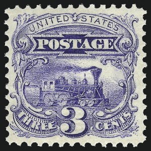 Sale Number 1013, Lot Number 134, 1869 Pictorial Issue Unused3c Ultramarine (114). Mint N.H, 3c Ultramarine (114). Mint N.H