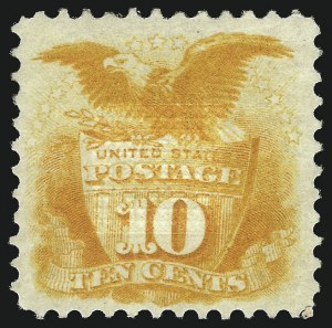 Sale Number 1013, Lot Number 136, 1869 Pictorial Issue Unused10c Yellow (116), 10c Yellow (116)