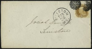 Sale Number 1013, Lot Number 151, 1869 Pictorial Issue Used and On Cover1c Buff (112), 1c Buff (112)