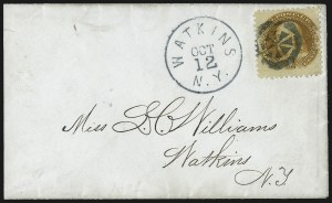 Sale Number 1013, Lot Number 152, 1869 Pictorial Issue Used and On Cover1c Buff, 2c Brown (112-113), 1c Buff, 2c Brown (112-113)