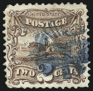 Sale Number 1013, Lot Number 154, 1869 Pictorial Issue Used and On Cover2c Brown (113), 2c Brown (113)