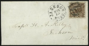 Sale Number 1013, Lot Number 156, 1869 Pictorial Issue Used and On Cover2c Brown (113), 2c Brown (113)