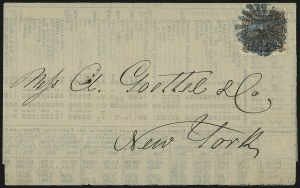 Sale Number 1013, Lot Number 158, 1869 Pictorial Issue Used and On Cover2c Brown (113), 2c Brown (113)