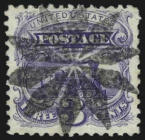 Sale Number 1013, Lot Number 170, 1869 Pictorial Issue Used and On Cover3c Ultramarine (114), 3c Ultramarine (114)