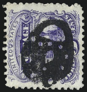 Sale Number 1013, Lot Number 175, 1869 Pictorial Issue Used and On Cover3c Ultramarine (114), 3c Ultramarine (114)