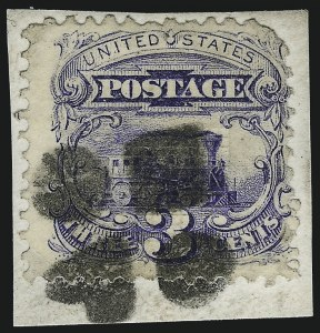 Sale Number 1013, Lot Number 181, 1869 Pictorial Issue Used and On Cover3c Ultramarine (114), 3c Ultramarine (114)