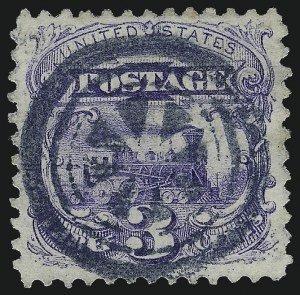 Sale Number 1013, Lot Number 183, 1869 Pictorial Issue Used and On Cover3c Ultramarine (114), 3c Ultramarine (114)