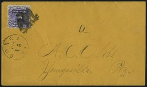 Sale Number 1013, Lot Number 184, 1869 Pictorial Issue Used and On Cover3c Ultramarine (114), 3c Ultramarine (114)