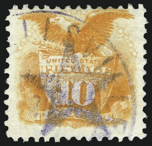 Sale Number 1013, Lot Number 198, 1869 Pictorial Issue Used and On Cover10c Yellow (116), 10c Yellow (116)