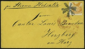 Sale Number 1013, Lot Number 202, 1869 Pictorial Issue Used and On Cover10c Yellow (116), 10c Yellow (116)