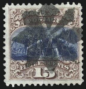 Sale Number 1013, Lot Number 208, 1869 Pictorial Issue Used and On Cover15c Brown & Blue, Ty. I (118), 15c Brown & Blue, Ty. I (118)