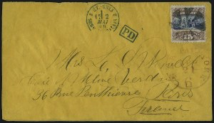 Sale Number 1013, Lot Number 213, 1869 Pictorial Issue Used and On Cover15c Brown & Blue, Ty. I (118), 15c Brown & Blue, Ty. I (118)