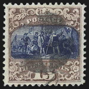 Sale Number 1013, Lot Number 214, 1869 Pictorial Issue Used and On Cover15c Brown & Blue, Ty. II (119), 15c Brown & Blue, Ty. II (119)