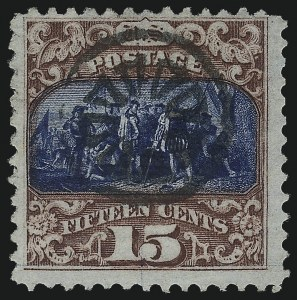 Sale Number 1013, Lot Number 217, 1869 Pictorial Issue Used and On Cover15c Brown & Blue, Ty. I-II (118-119), 15c Brown & Blue, Ty. I-II (118-119)