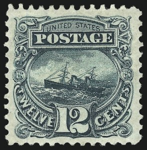Sale Number 1013, Lot Number 243, 1875 Re-Issue of 1869 Pictorial Issue12c Green, Re-Issue (128), 12c Green, Re-Issue (128)