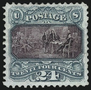 Sale Number 1013, Lot Number 245, 1875 Re-Issue of 1869 Pictorial Issue24c Green & Violet, Re-Issue (130), 24c Green & Violet, Re-Issue (130)