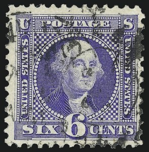 Sale Number 1013, Lot Number 255, 1875 Re-Issue of 1869 Pictorial Issue6c Blue, Re-Issue (126), 6c Blue, Re-Issue (126)