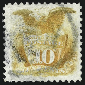 Sale Number 1013, Lot Number 256, 1875 Re-Issue of 1869 Pictorial Issue10c Yellow, Re-Issue (127), 10c Yellow, Re-Issue (127)