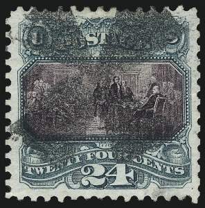 Sale Number 1013, Lot Number 259, 1875 Re-Issue of 1869 Pictorial Issue24c Green & Violet, Re-Issue (130), 24c Green & Violet, Re-Issue (130)