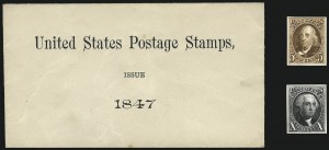 Sale Number 1013, Lot Number 267, Pre-1870 Issues5c Red Brown, 10c Black, 1875 Reproduction, Plate Proofs on Card (3P4-4P4), 5c Red Brown, 10c Black, 1875 Reproduction, Plate Proofs on Card (3P4-4P4)