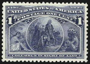 Sale Number 1013, Lot Number 302, Columbian Issue1c Columbian (230), 1c Columbian (230)