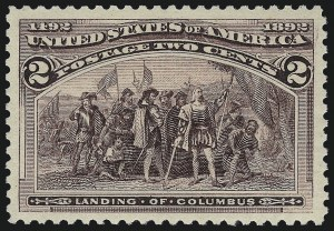 Sale Number 1013, Lot Number 304, Columbian Issue2c Columbian, Broken Frame Line (231 var), 2c Columbian, Broken Frame Line (231 var)