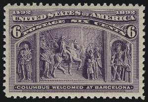 Sale Number 1013, Lot Number 306, Columbian Issue6c Columbian (235), 6c Columbian (235)