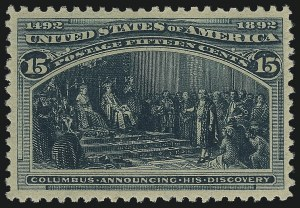 Sale Number 1013, Lot Number 307, Columbian Issue15c Columbian (238), 15c Columbian (238)