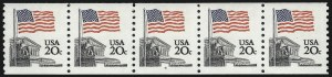 Sale Number 1013, Lot Number 481, Plate Number Coils20c Flag Over Supreme Court, Coil (1895a), 20c Flag Over Supreme Court, Coil (1895a)