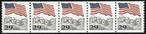 Sale Number 1013, Lot Number 483, Plate Number Coils29c Flag Over Mt. Rushmore (2523c), 29c Flag Over Mt. Rushmore (2523c)