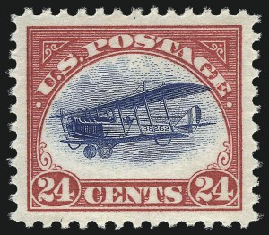 Sale Number 1013, Lot Number 487, Air Post24c Carmine Rose & Blue, 1918 Air Post (C3), 24c Carmine Rose & Blue, 1918 Air Post (C3)