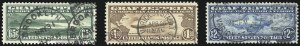 Sale Number 1013, Lot Number 492, Air Post65c-$2.60 Graf Zeppelin (C13-C15), 65c-$2.60 Graf Zeppelin (C13-C15)
