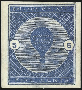 Sale Number 1013, Lot Number 493, Air Post5c Deep Blue, Buffalo Balloon (CL1), 5c Deep Blue, Buffalo Balloon (CL1)