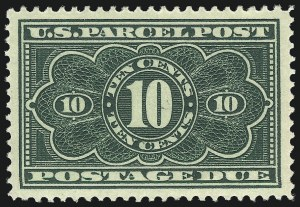 Sale Number 1013, Lot Number 498, Back-of-Book Issues, Confederate States10c Dark Green, Parcel Post Postage Due (JQ4), 10c Dark Green, Parcel Post Postage Due (JQ4)