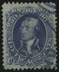 Sale Number 1014, Lot Number 1198, 1861-66 Issue (Scott 72-78b)90c Blue (72), 90c Blue (72)